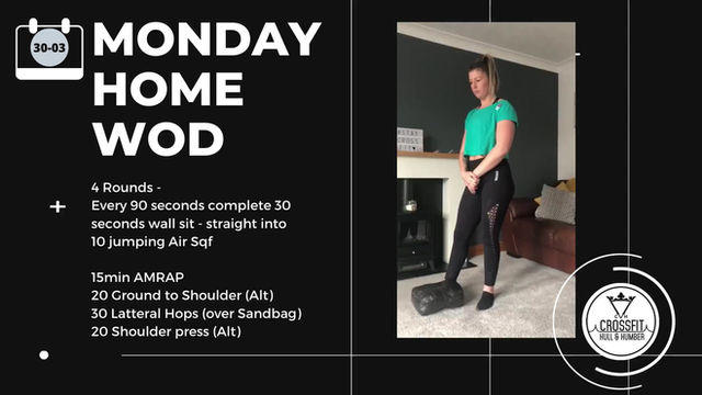 Monday 30th March 2020 - Home WOD