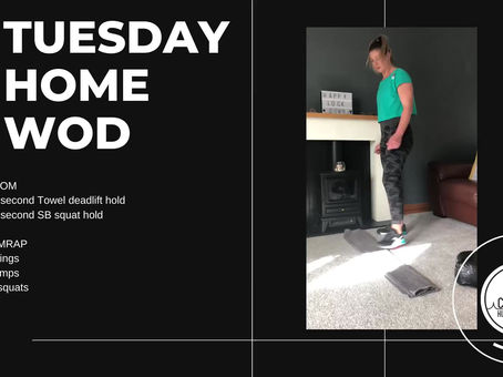 Tuesday 21st April 2020 - Home WOD