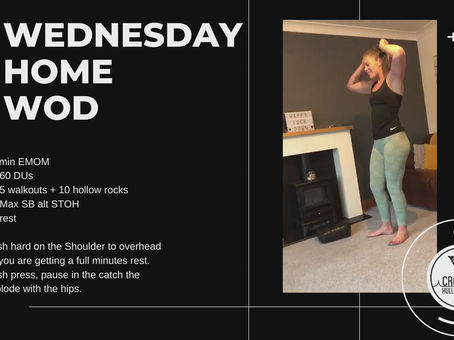 Wednesday 29th April 2020 - Home WOD