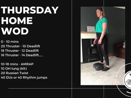 Thursday 2nd April 2020 - Home WOD