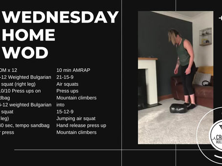 Wednesday 15th April 2020 - Home WOD