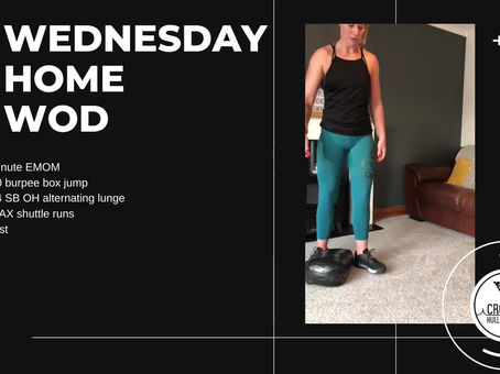 Wednesday 06th May 2020 - Home WOD