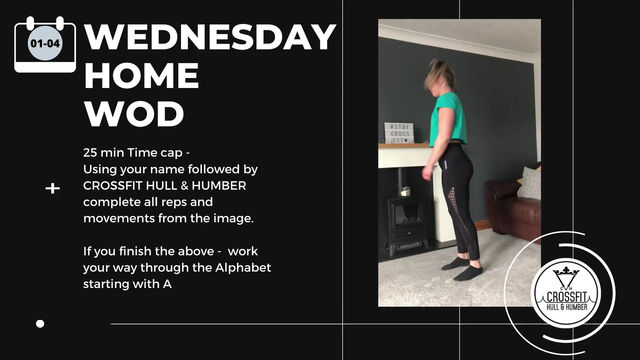 Wednesday 01st April 2020 - Home WOD