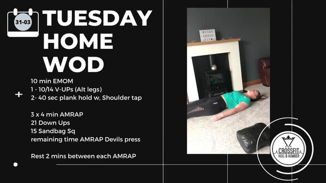 Tuesday 31st March 2020 - Home WOD