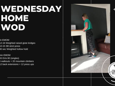 Wednesday 22nd April 2020 - Home WOD