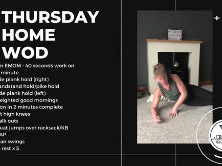 Thursday 16th April 2020 - Home WOD