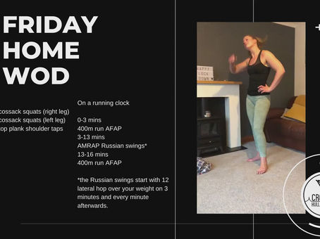 Friday 01st May 2020 - Home WOD