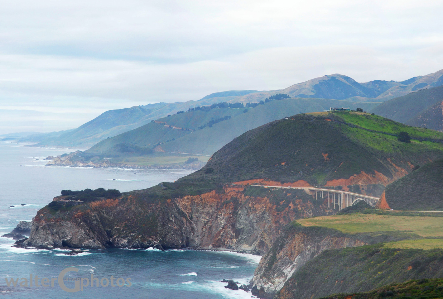Seascape Along Pacific Coast Highway