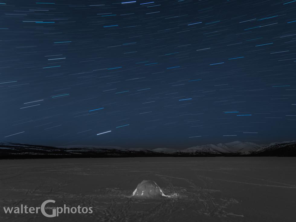 Star Trails at Fish Lake