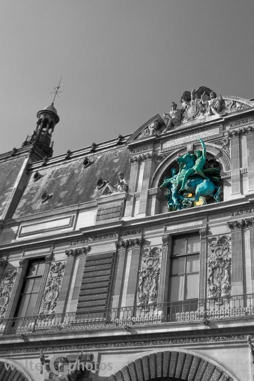 Denon Wing (South entrance), Louvre, Paris, France