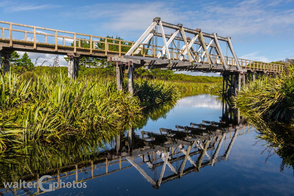 Mahinapua Bridge, near Hokitika, SI, New Zealand
