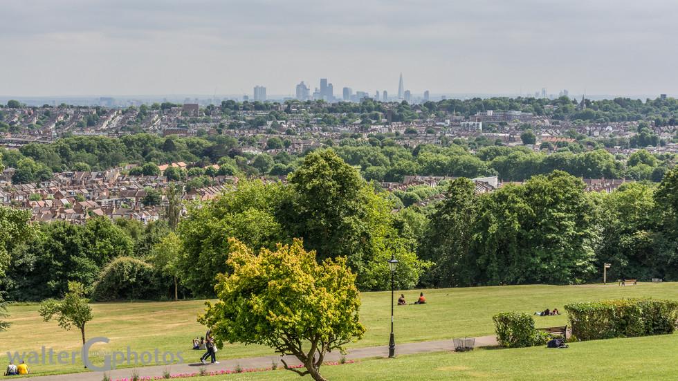 London from Alexandra Palace, England