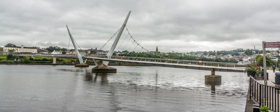 Peace Bridge, Derry (Londonderry), Northern Ireland