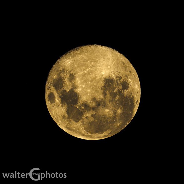 Moon over Wellington, New Zealand