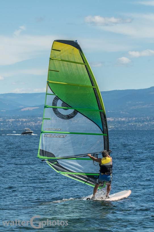 Windsurfing on Okanagan Lake
