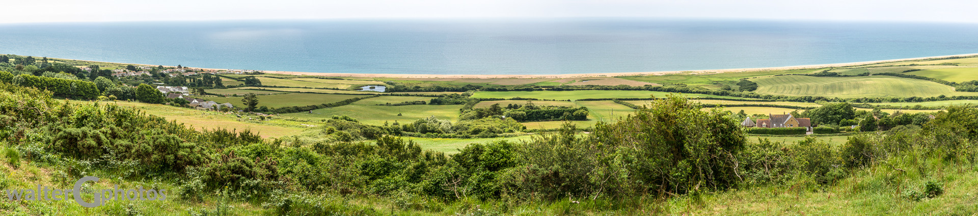 Landscape with English Channel, England