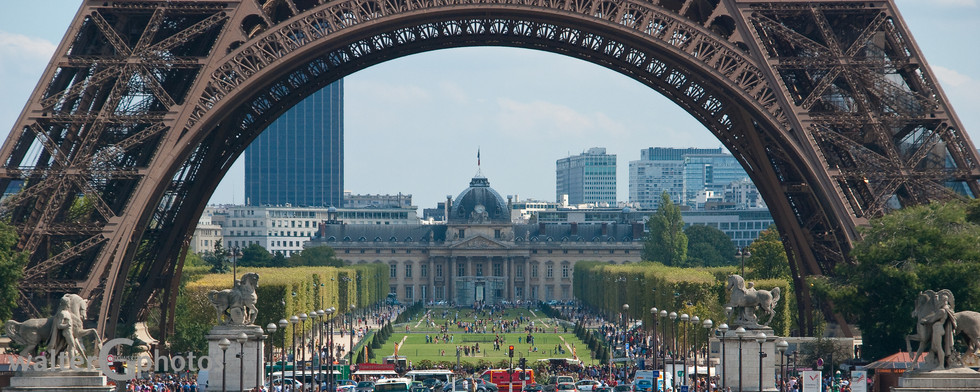 Eiffel Tower with L'Ecole Militaire