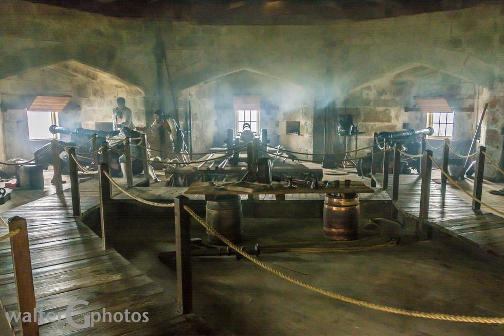 Gun Room, Pendennis Castle, Falmouth, Cornwall, England