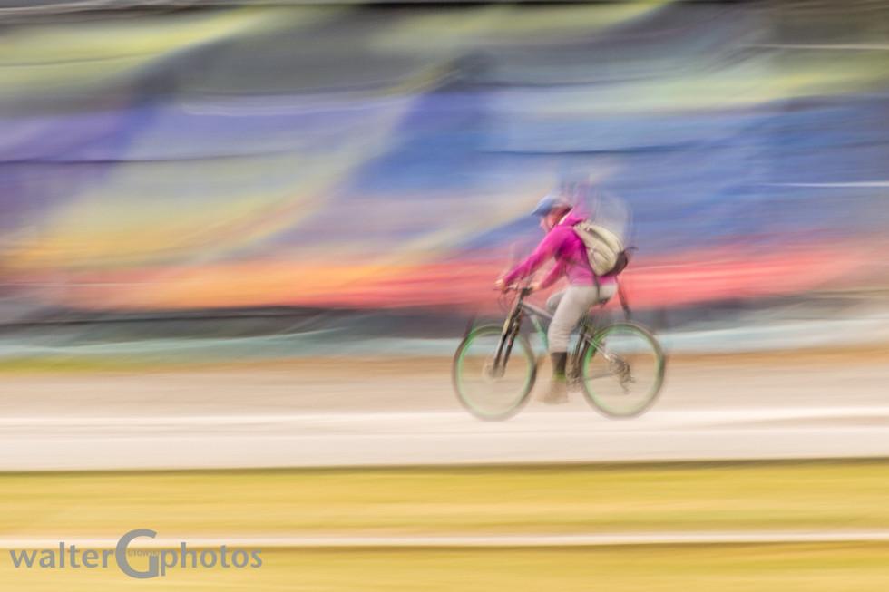 Cyclist Pan