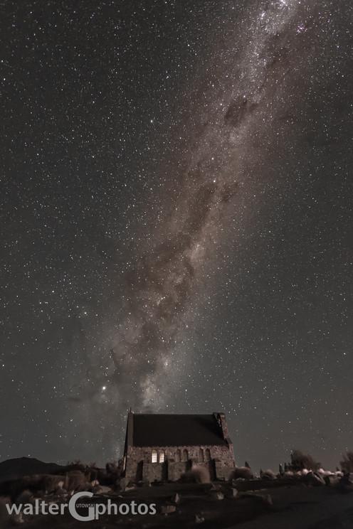 Milky Way over Church of the Good Shepherd, Lake Tekapo, New Zealand
