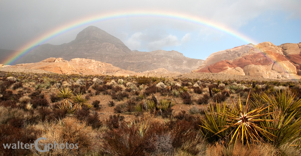 Rainbow at Red Rock Canyon