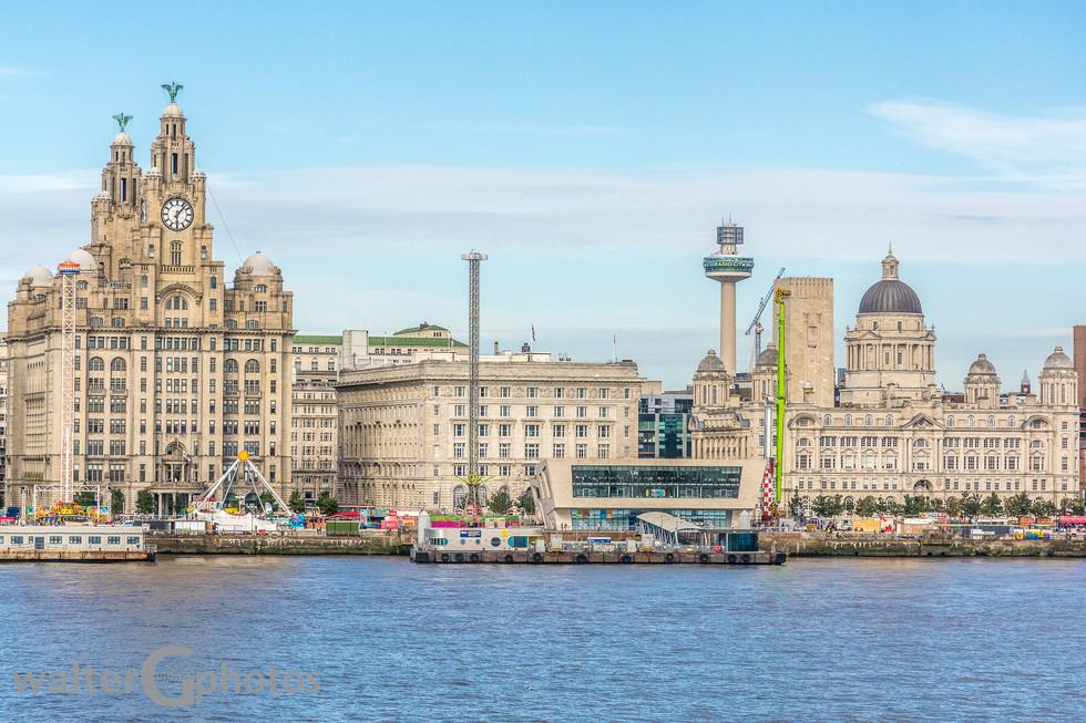 Liver Bldg, John's Beacon and Port of Liverpool Bldg, Liverpool, England