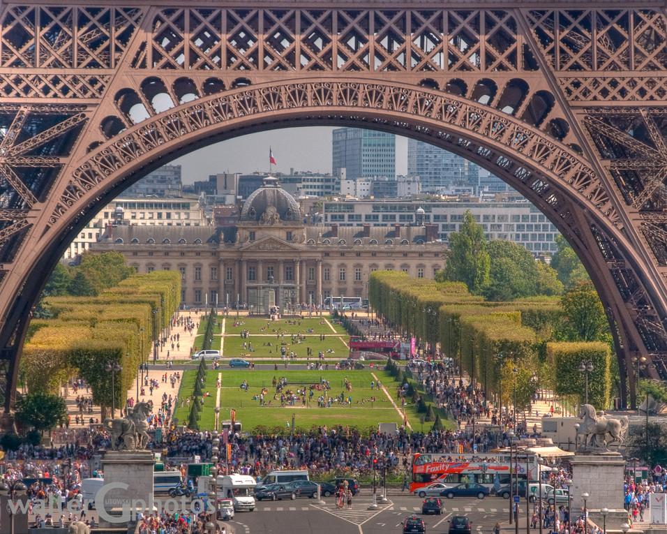 Eiffel with Military Academy, Paris, France