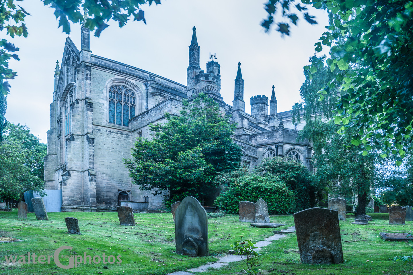 St Mary's Church and graveyard, Warwick, England