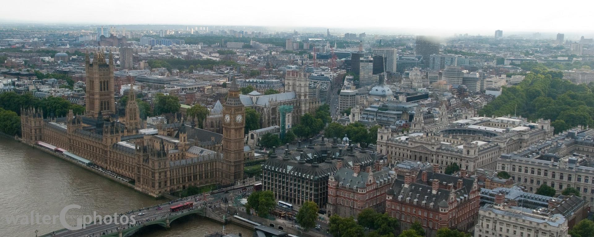 London Cityscape with Parliament Buildings, London, UK