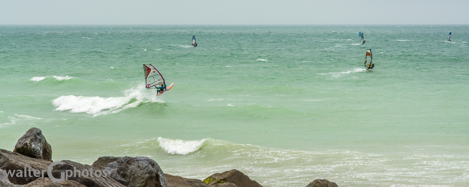Windsurfing off Shoreham-by-Sea, England