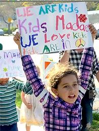 Children's March we love kids sign (1).p