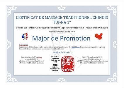 Diplôme d'acupuncture et de MédecineTraditionnelle Chinoise