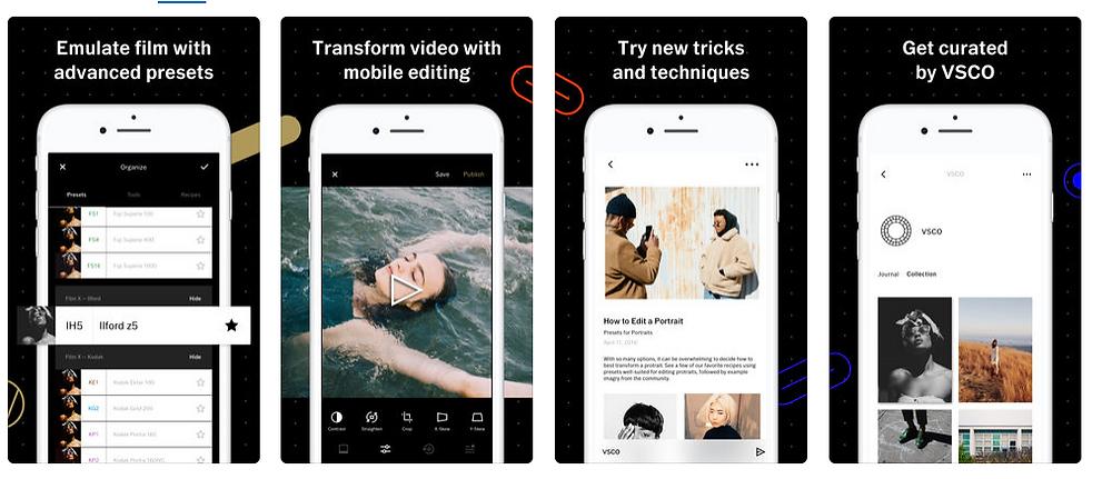 VSCO - Best Photo Editing Apps - 2018