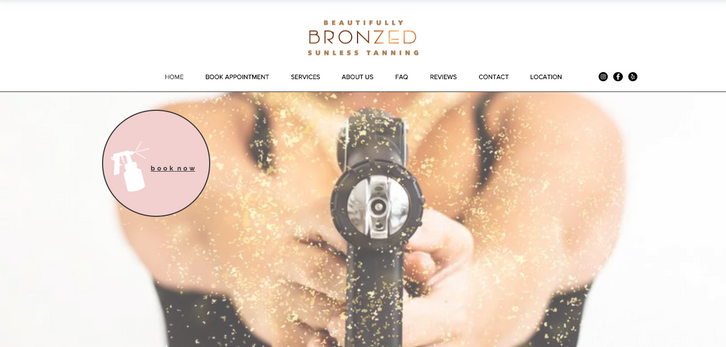 Beautifully Bronzed - Web Design - Websi