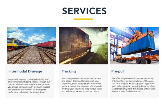 Ball Intermodal - Services - Web Design