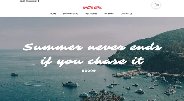 White GIrl Sunscreen - Web Design - Webs