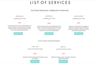 List of Services - Infographic - I Do So