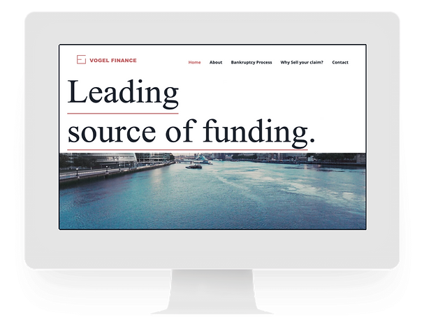 Finance Web Design - Freelance Website C