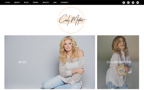 Carly Mathis - Blogger Web Design - I Do