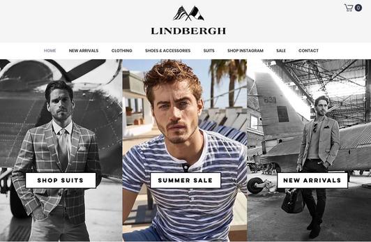 Lindbergh Fashion Website Design - Websi