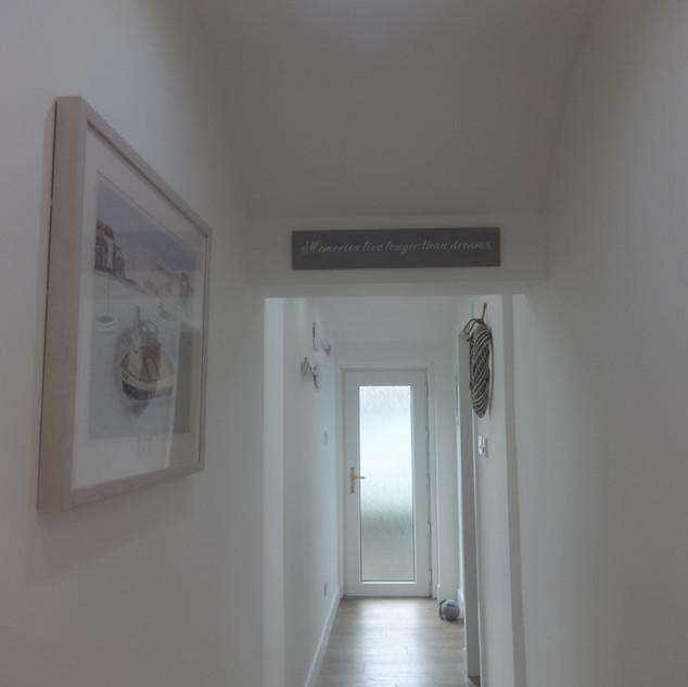 Rear door hallway