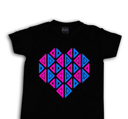 Camiseta Oberta Corazón Chico Negro