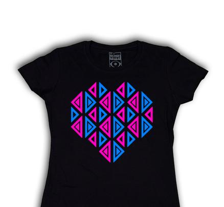 Camiseta Oberta Corazón Chica Negro