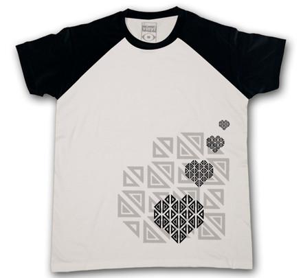 Camiseta Oberta Corazones Chico Blanco & Negro