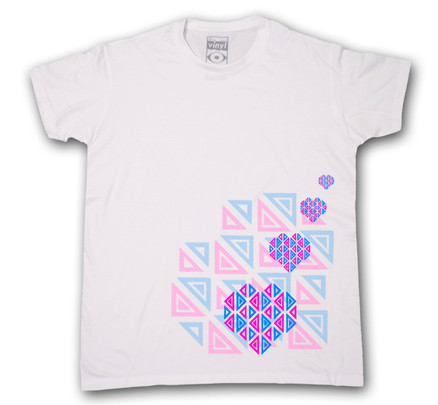 Camiseta Oberta Corazones Chico Blanco