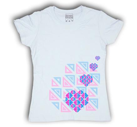 Camiseta Oberta Corazones Chica Blanco