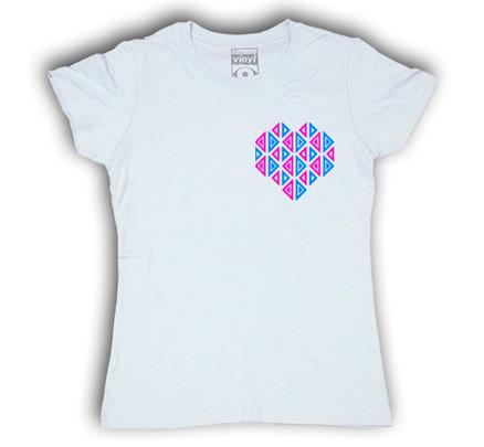 Camiseta Oberta Corazón de Bolsillo Chica Blanco