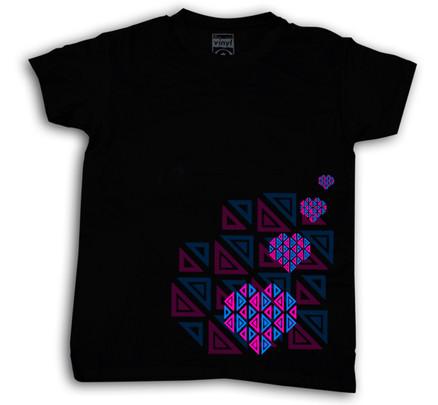 Camiseta Oberta Corazones Chico Negro