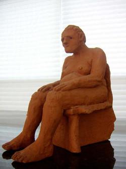 Seated lady profile