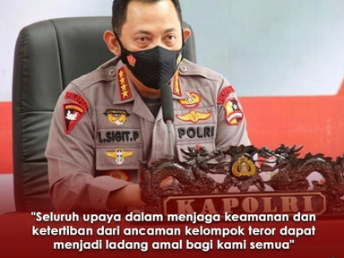 Panglima TNI dan Kapolri Berikan Pengarahan Terhadap Personel Satuan Operasi Madago Raya 2021